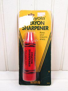 Vintage Crayola Crayon Sharpener Red Binney & Smith 1983 New On Card 1980s