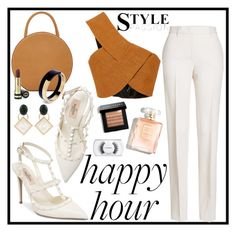 """Bottoms Up : Happy Hour"" by erliza on Polyvore featuring Jil Sander, Rosetta Getty, Valentino, Mansur Gavriel, Bobbi Brown Cosmetics, Gucci, Marni and MAC Cosmetics"