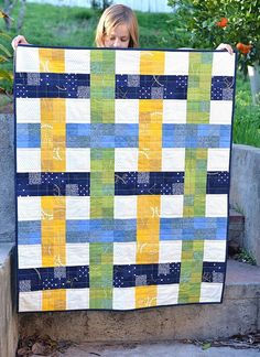 I have been a baby-quilt-making mood lately. Maybe it is because my lots of my friends have had babies recently or because my sister is having twin girls this summer, but expect to see a few more in