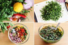Cómo hacer salsa chimichurri. Receta argentina