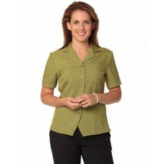 Women`s cool dry Short Sleeve Over blouse Colours : Avocado Promotional Clothing, Health Care, Avocado, Charcoal, Teal, Colours, Suits, Denim, Lady