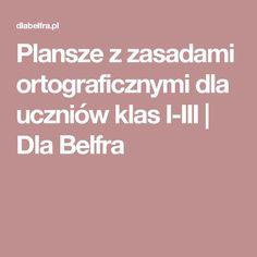 Plansze z zasadami ortograficznymi dla uczniów klas I-III   Dla Belfra