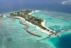 Maldives - Full-moon-resort - Aerial view of island