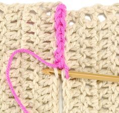 Many crochet patterns are made in pieces that must be attached. We show four of the most popular techniques
