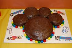 Life is Beautiful: Puppy Party Paw-ty Paw cake