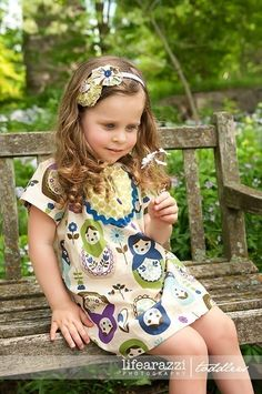 Matryoshka Baby Doll PEASANT DRESS -- Available in Sizes 6m 12m 18m 2T 3T 4T 5 6 7 8. $39.95, via Etsy.