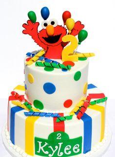 Elmo Cake @Adriane Richardson Richardson Richardson Richardson Bushman this one is cute too and less messy