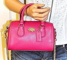 479780ca0d55 COACH Baby Bennett Mini Leather Satchel Bag Pink Purse NWT