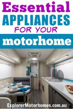 Check out the appliances we think are the most important in your motorhome. Of course, appliances are going to be a personal choice, but these ones just make our life on the road as we travel around Australia in a motorhome, nicer and more comfortable.  #motorhomelife
