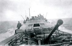 """A closeup of a 2cm Flak 38 a German Schnellboot type """"S-100"""", in the background you see the protection of the bridge known as """"kallote"""". Baltic Sea 1944. (training voyage ?)."""