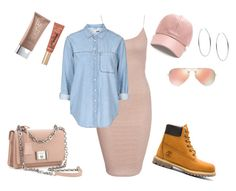 """""""Pastel"""" by amuramasri on Polyvore featuring mode, Timberland, New Look, Ray-Ban, Too Faced Cosmetics, Michael Kors, Urban Decay en Prada"""