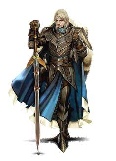 Male Half-Elf Paladin or Warpriest of Iomadae - Pathfinder PFRPG DND D&D 3.5 5th ed d20 fantasy