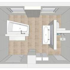 Grundriss: moderne Badezimmer von HEIMWOHL GmbH