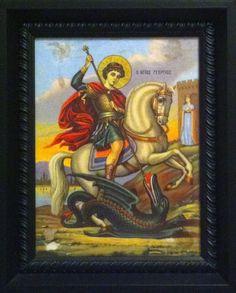 São Jorge, 1960 Saint George And The Dragon, Clash Of The Titans, Erotic Art, Group, Board, Painting, Saints, Saint George, Dragons