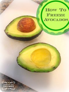 I had no idea you could Freeze Avocados until last week. Now I can buy them on sale and Freeze them to use later!