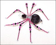 Orchid  glass beaded spider goth sun catcher by llanywynns on Etsy, $18.00