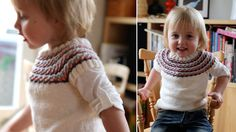 Pickles Autumn Leaves Posh Vest - free pattern for size 2yrs