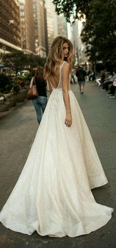 A wonderful wedding dress with open back