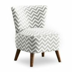 MCM Chair - Zig Zag Grey and White