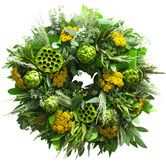 Found it at Joss & Main - Preserved Artichoke and Yarrow Wreath