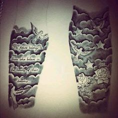 cloud tattoo sleeve cloud tattoos sleeve tattoos for men tattoo arm ...