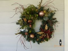 Elegant Christmas Wreath  Christmas Decor  by JulieButlerCreations