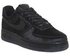 Nike Air Force 1 '07 Premium Black Black Pony