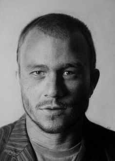 A drawing of late Australian television and film actor, Heath Ledger. Medium: Graphite pencils, black charcoal and black coloured pencil on sketching paper. Step by step evolution: http://kelvinokaforart.blogspot.com/2012/02/heath-ledger-evolution.html