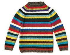 Ringelpulli für Kinder stricken