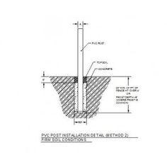 PVC Post installation CAD Details
