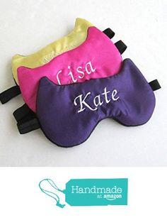 Monogrammed Satin Cat Shape Sleep mask Slumber Party Masks Bridesmaid Gifts Personalized Bachelorette Party Favors. from Shushbear https://www.amazon.com/dp/B01GZLAFYI/ref=hnd_sw_r_pi_dp_foCyxb3Z2SN18 #handmadeatamazon