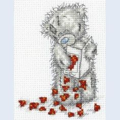 Me To You - Tatty Teddy - Little Hearts - counted cross stitch kit Coats Crafts