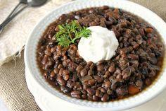 Slow Cooker Black Bean and Lentil Soup Lentil Soup Recipes, Veggie Recipes, Vegetarian Recipes, Healthy Eating Recipes, Clean Recipes, Clean Foods, Easy Recipes, Slow Cooker Recipes, Cooking Recipes