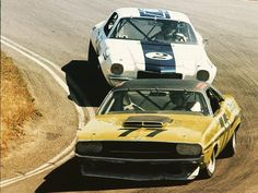 Sam posey exits the pits at the 1970 Trans-Am at Laguna Seca