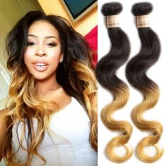 1b27# 50g/Bundle Ombre Body Wave Grade 6A Human Hair Extension Remy Weft Weaves