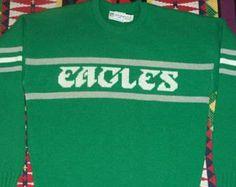 Philadelphia Eagles Vintage Cliff Engle Sweater LARGE