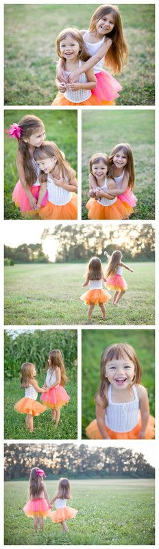 Sisters! Love these fun DIY tutus.   Tiffany Burke Photography