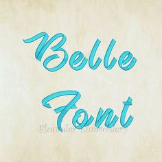 Belle Embroidery Font 5 Size Embroidery Designs Fonts INSTANT