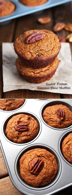 Moist Coconut Flour Sweet Potato Muffins are a great make-ahead and take-along breakfast that is gluten and grain free – made without refined sugar this recipe is also paleo friendly.