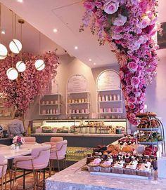 London's Most Inspiring Restaurant Décor - Salons - Yorgo Bakery Interior, Salon Interior Design, Restaurant Interior Design, Cupcake Shop Interior, Bakery Decor, Pub Decor, Restaurant Furniture, Nail Salon Decor, Beauty Salon Decor