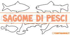 Sagome di pesci da colorare e ritagliare per bambini pronte da stampare gratis
