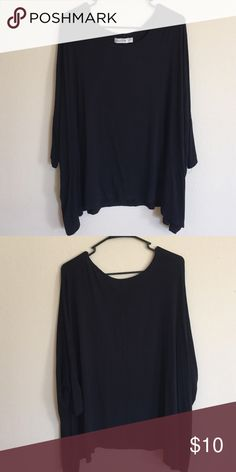 Top/Dress long sleeve flowy top with stretchy material. can be worn as a top or dress since it's one size fits all. Abercrombie & Fitch Tops Tees - Long Sleeve