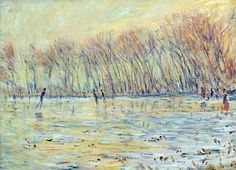 """lonequixote: """" Skaters in Giverny by Claude Monet """""""