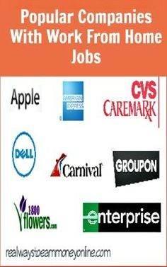 Do you feel more comfortable applying for work from home jobs with companies you've heard of? Then this list should help! It's a big list of companies that are more or less household names that DO have work from home jobs.