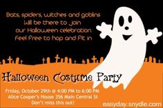 Halloween party invitation wording party halloween party invitation wording is the best theme to forge your chic party invitations stopboris Image collections