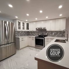 Another kitchen project after everything else was done. White looks very nice with white granite countertop eh?