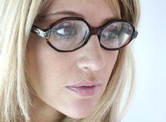 Vintage 50's Italian Rhinestone Tortoise Shell Cat Eyeglasses Sunglasses Frames