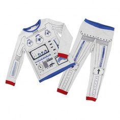 Robot Two-piece Pyjamas Heather grey  Billybandit