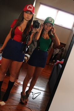 slutty mario and luigi costumes hahaha