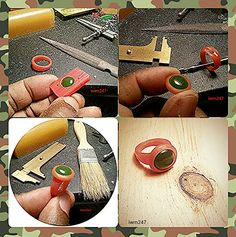 Step by step presentation of handcrafted wax carving and design - Scolpire un castone nella cera